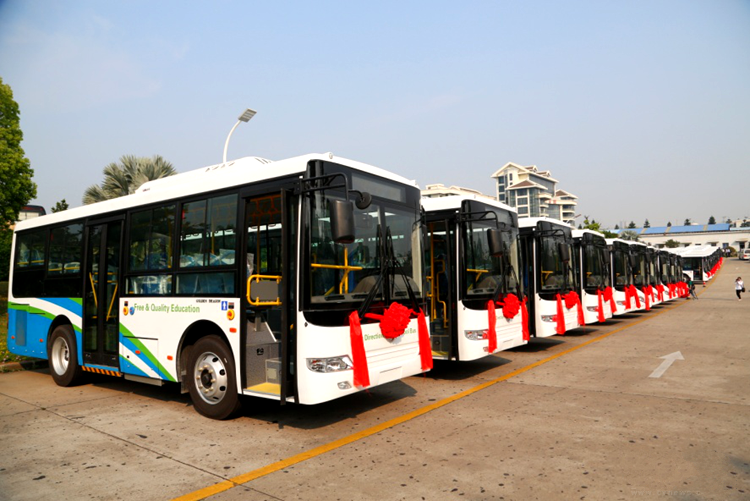 The first batch of 50 golden dragon passenger buses were ready to delivery to Sierra Leone