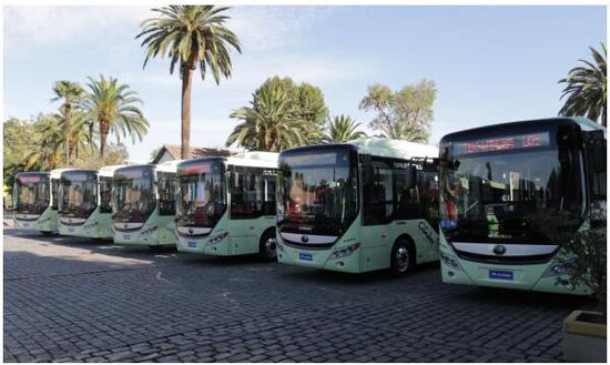 Yutong pure electric bus was delivered to Chile